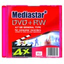 MEDIASTAR DVD+RW 4x SINGLE